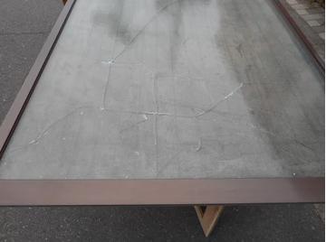 三郷市 泉 腰高窓のガラス修理・交換