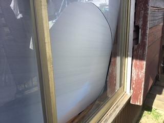 草加市 西町 透明ガラスの修理・交換