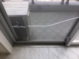 川口市 青木 ガラス修理前