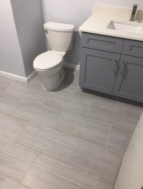bathroom vanity installed