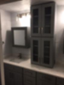 new cabinet master bathroom