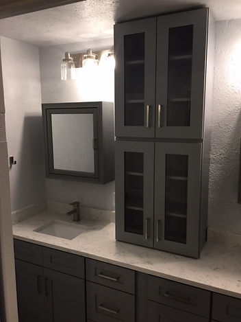 new cabinet master bathroom