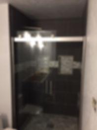 glass barn door shower door