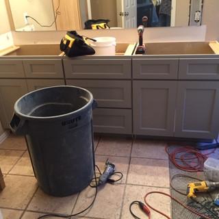 master bathroom remodel demo