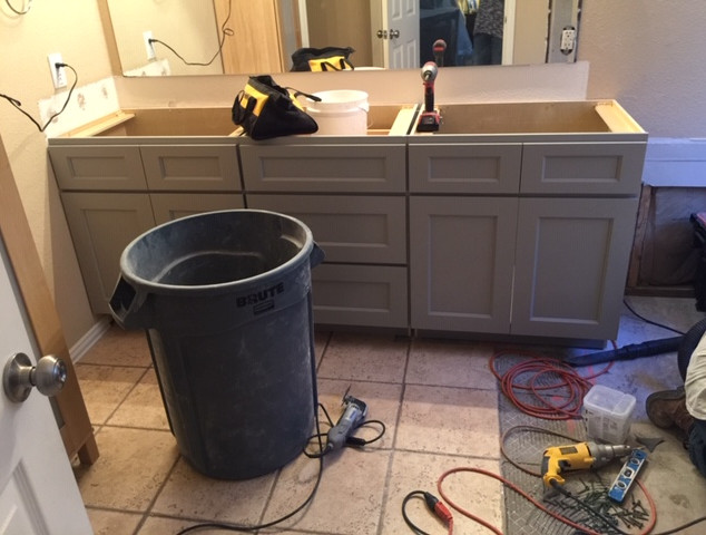 master bathroom remodel demo