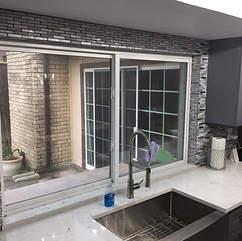 tile around kitchen window