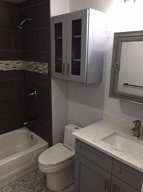 updated bathroom-after renovations