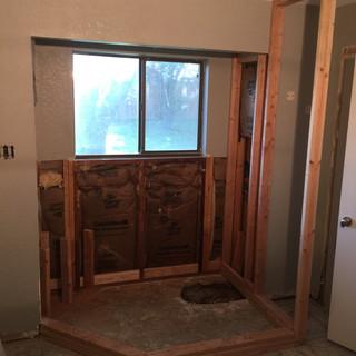 Framed new shower