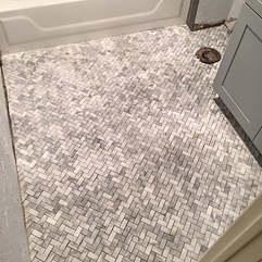 Marble floor, herringbone pattern