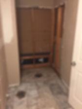 during demo of master bathroom demo-8