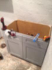 grey wood shaker cabinets