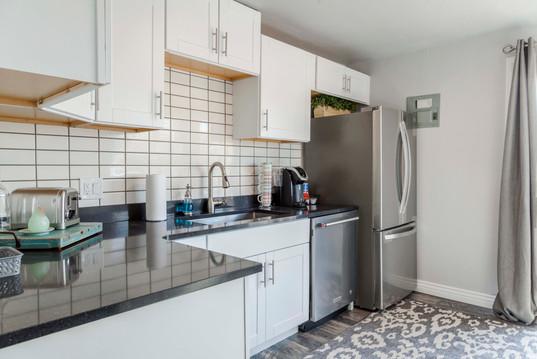 short term rental updated kitchen