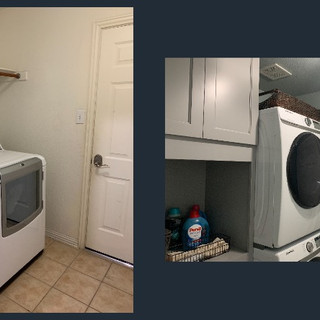Laundry Room Before/After