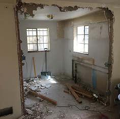 during demolition 3