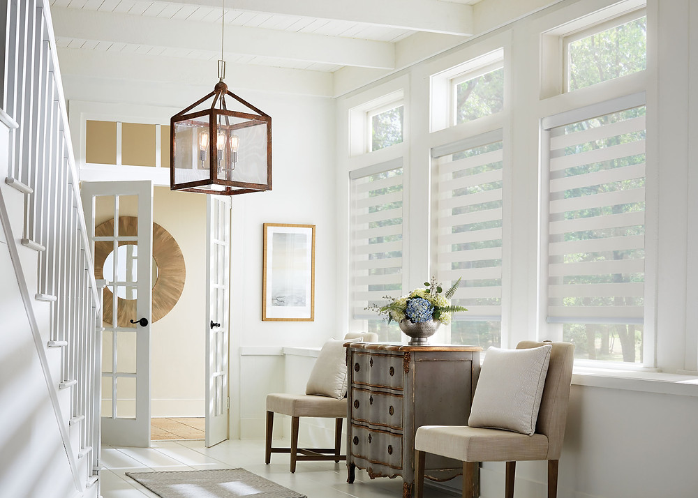 Add fabric shades for an instant design look.