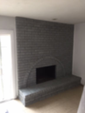 painted the fireplace for a fresh clean look