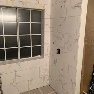 marble looking shower tile