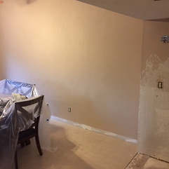 Half wall has been removed