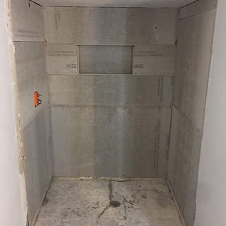 Backerboard in the shower