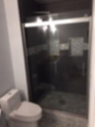 glass barn door shower door-2