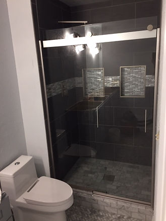 glass barn door shower door-2