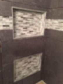 shampoo niche cutout accent tile