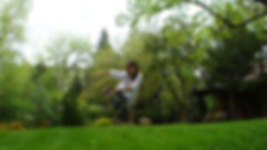 Julie dancing in yard.JPG