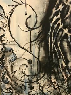 Sombre Rain - Acrylic on Canvas
