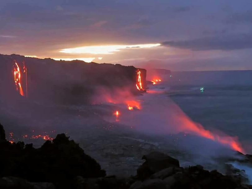 Kamokuna lava fall 2 volcano mountain retreat b&b big island hawaii
