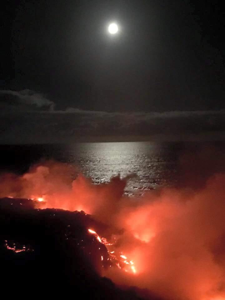Kamokuna lava fall 3 volcano mountain retreat b&b big island hawaii