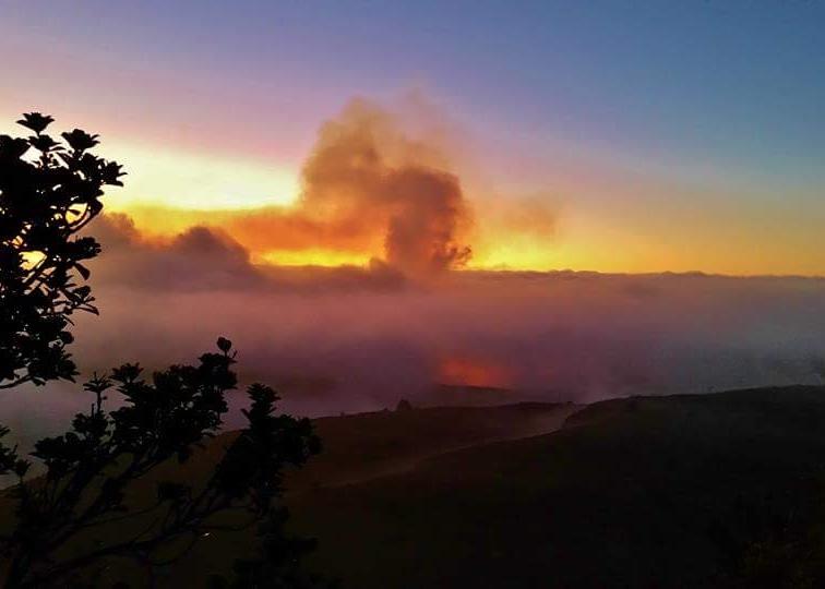 Kilauea at Dawn volcano mountain retreat b&b big island hawaii