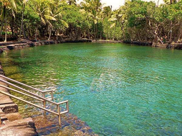 Ahalanui Hot Springs Lagoon volcano mountain retreat b&b big island hawaii