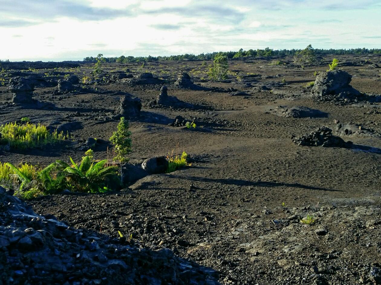 Chain of Craters - Mauna Ulu Lava Flow volcano mountain retreat b&b big island hawaii