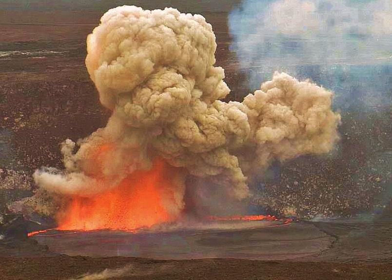 Kilauea 2015 Explosion volcano mountain retreat b&b big island hawaii