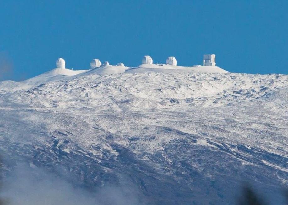 Mauna Kea Observatories from Hilo volcano mountain retreat b&b big island hawaii