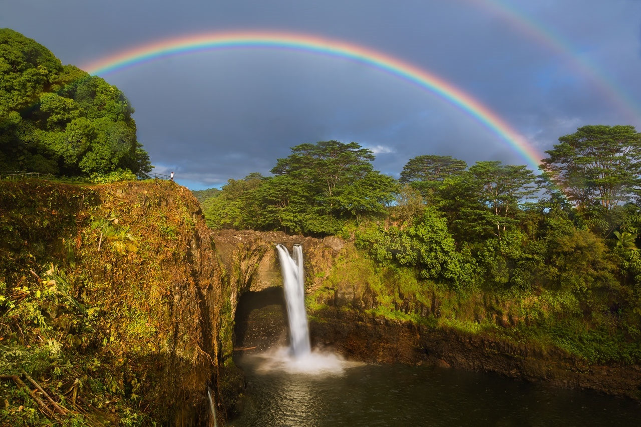 Rainbow Falls 1 volcano mountain retreat b&b big island hawaii