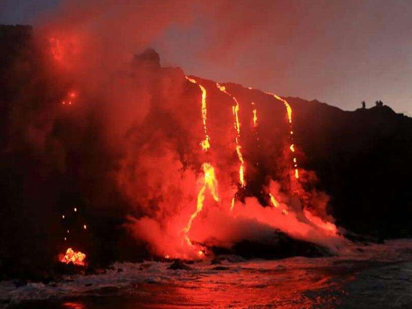 Kamokuna lava fall 1 volcano mountain retreat b&b big island hawaii
