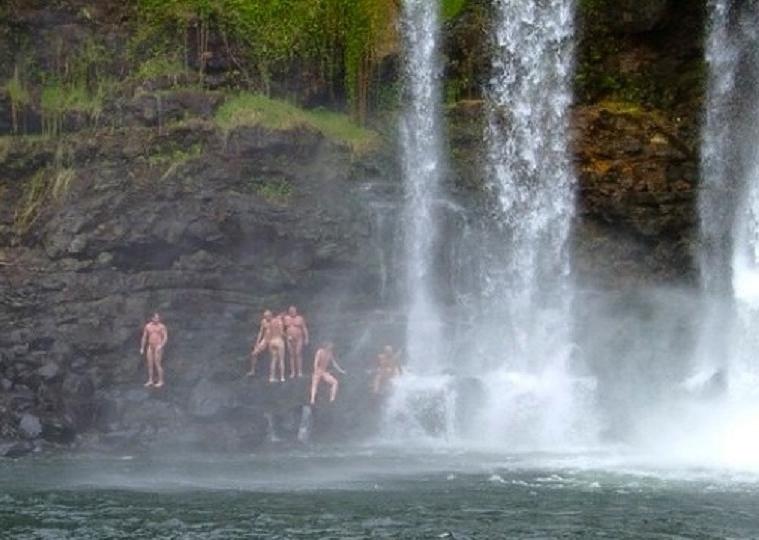 Pe'epe'e Falls volcano mountain retreat b&b big island hawaii