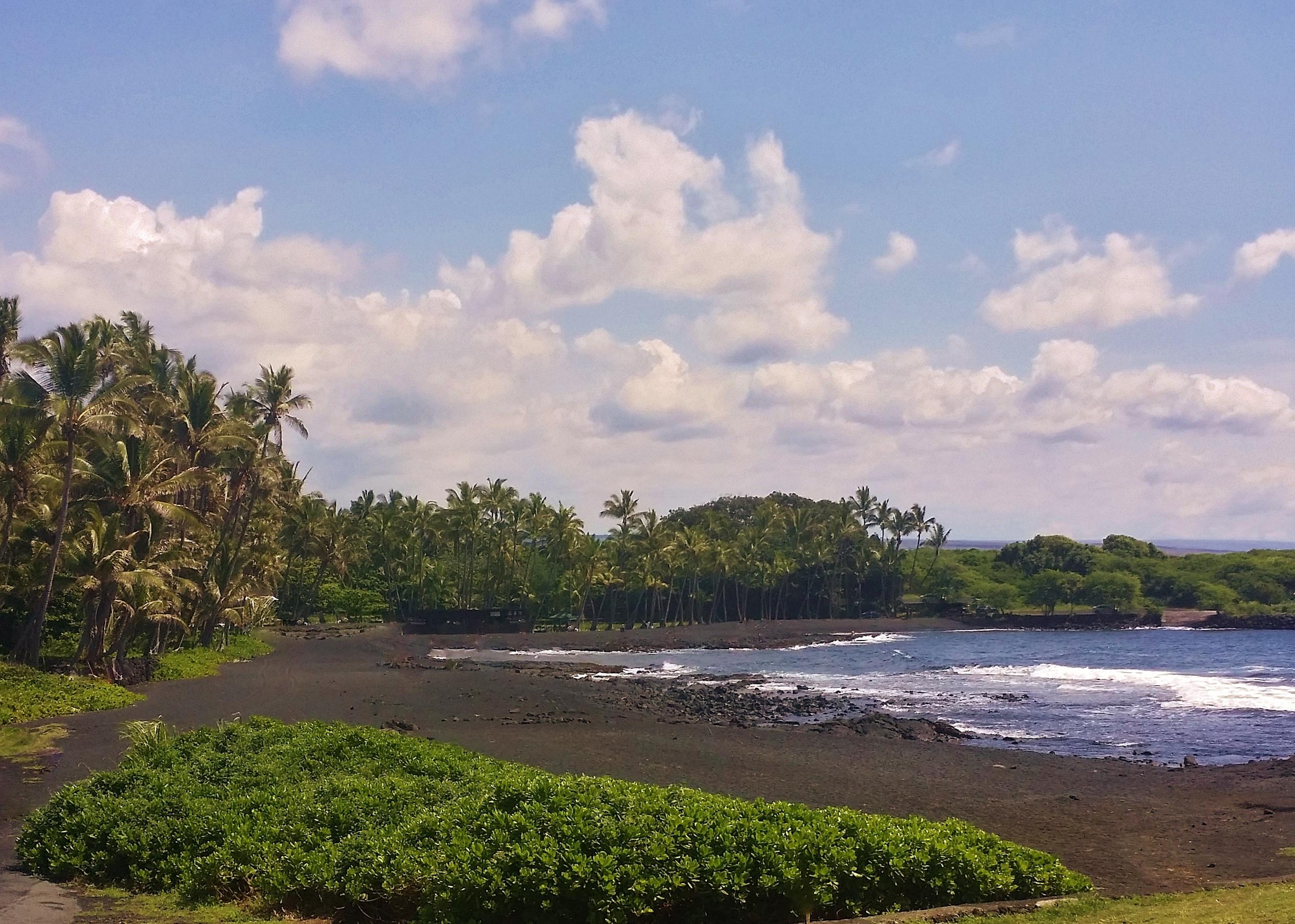 Punalu'u Black Sand Beach volcano mountain retreat b&b big island hawaii