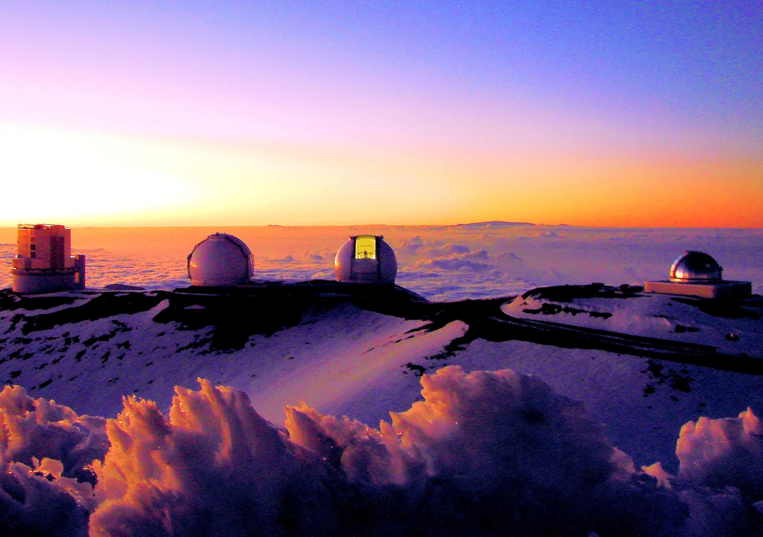 Mauna Kea Observatories from Summit volcano mountain retreat b&b big island hawaii