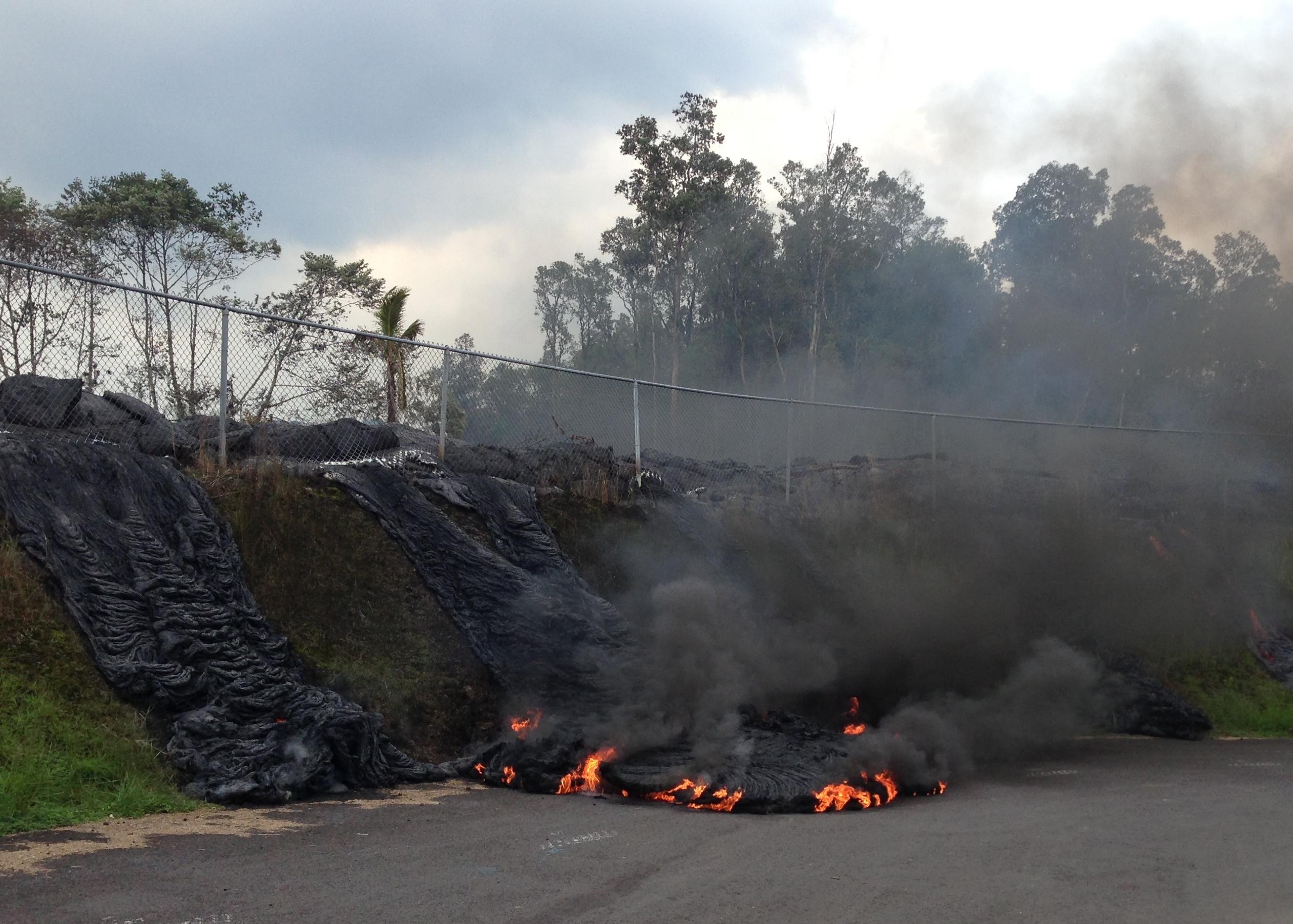 Pahoa Lava Flow volcano mountain retreat b&b big island hawaii