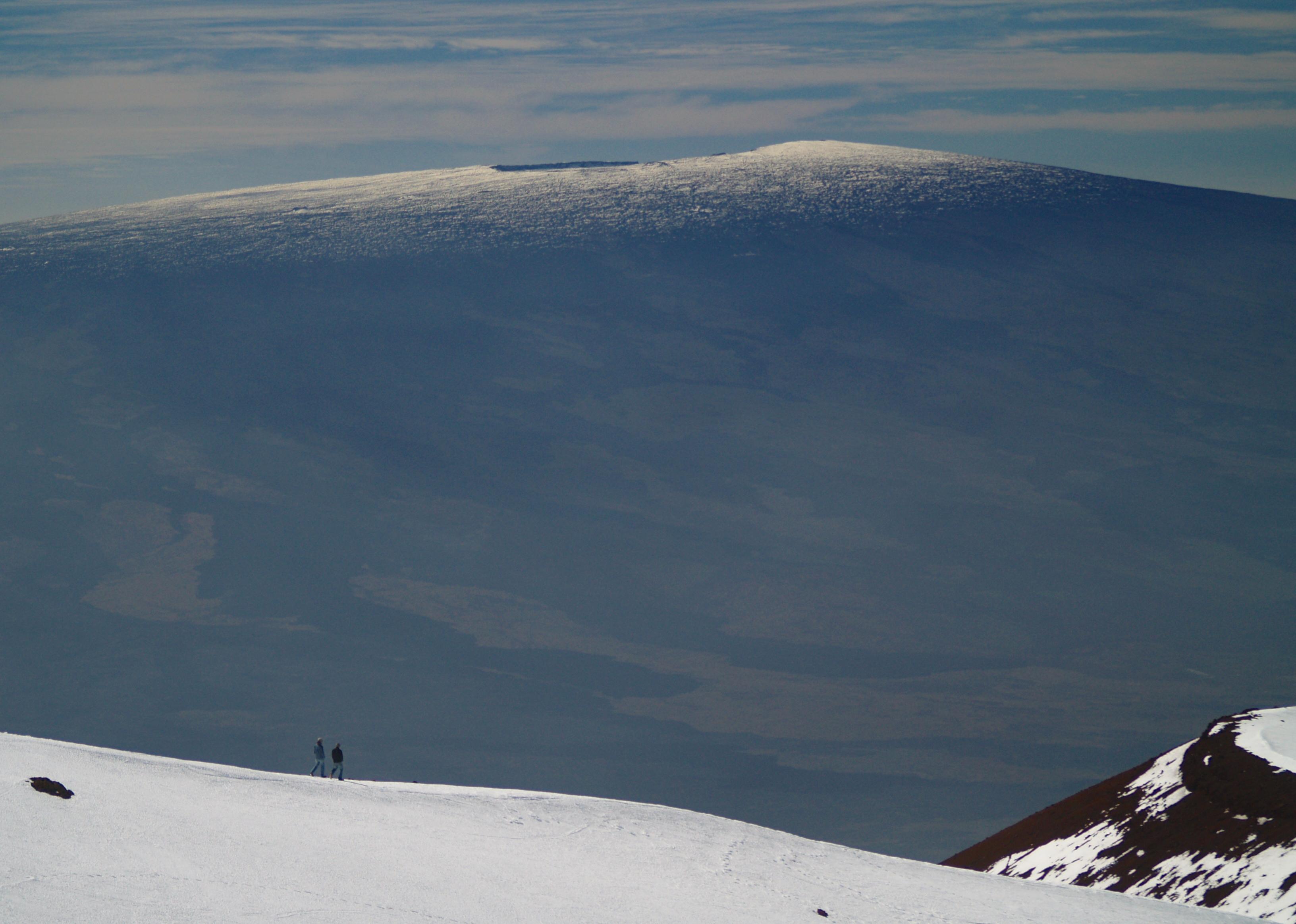 Mauna Loa Summit from Mauna Kea Summit volcano mountain retreat b&b big island hawaii