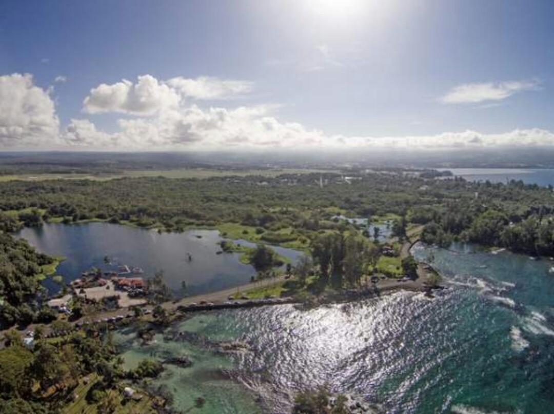 Richardson and Carlsmith Beach Lagoons volcano mountain retreat b&b big island hawaii