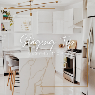 Sept 18 - Staging Tip: Less is more