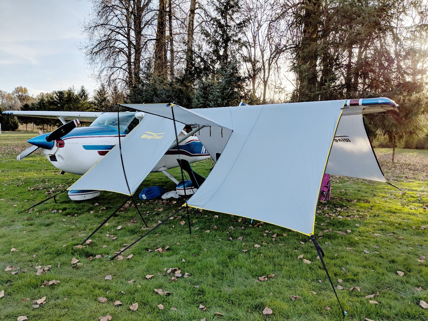 WingTent in shade-tent mode