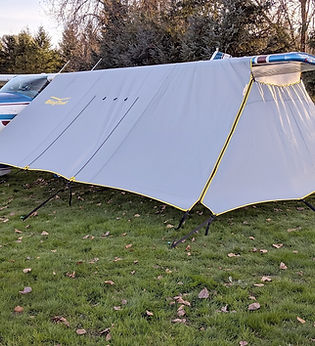 Add the privacy panel to create a full enclosure. Keep the wind and peering eyes out. Easy to attach!