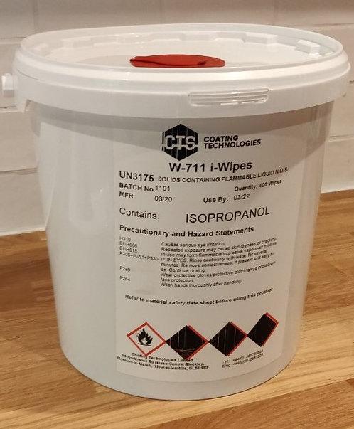 W-711 100% Isopropanol Wipes