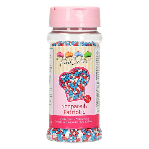 FunCakes Musketzaad - Rood/Wit/Blauw 80g