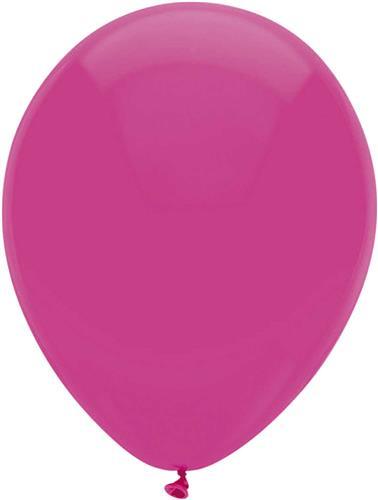 Ballonnen Uni Hot Pink 10st. 30cm