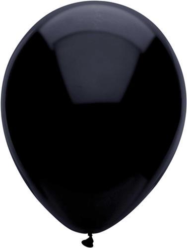 Ballonnen Uni Zwart 10st. 30 cm